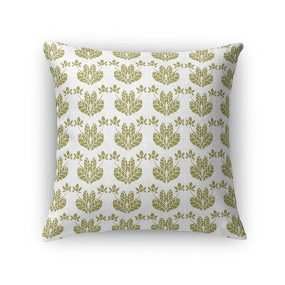 Jane Street French Flowers Throw Pillow Size: 18 x 18, Color: Gold/White