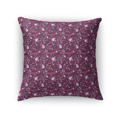 Warnick Spring Fields Throw Pillow Color: Pink, Size: 18 x 18