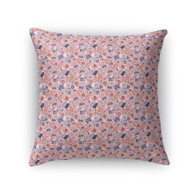 Warnick Spring Fields Throw Pillow Color: Pink/Blue/Orange, Size: 18 x 18