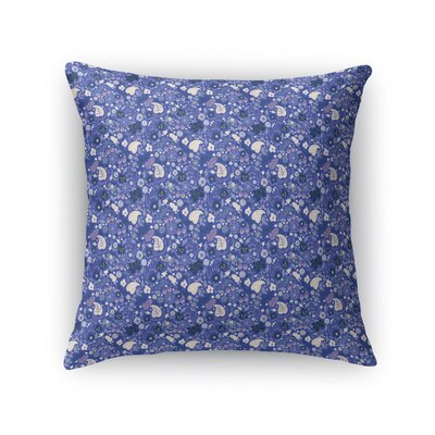 Warnick Spring Fields Throw Pillow Color: Pink/Blue, Size: 16 x 16
