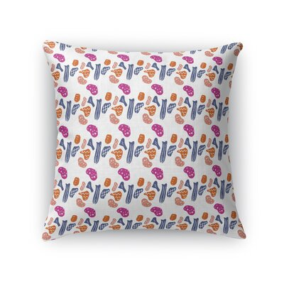 Oresman Rainbow Stones Throw Pillow Size: 16 x 16