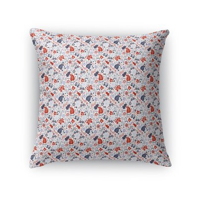 Schwierjohann Patriotic American Spring Fields Throw Pillow Size: 24 x 24