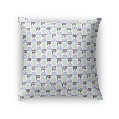Gokita Rainbows, Sunshine, and Storm Clouds Throw Pillow Size: 24 x 24