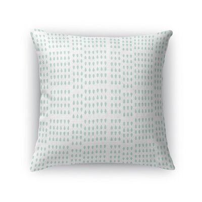 Swarttz Raindrops and Teardrops Throw Pillow Size: 18 x 18