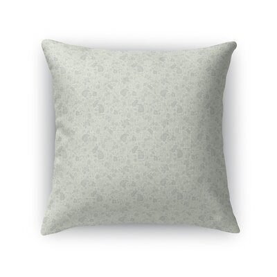 Warnick Spring Fields Throw Pillow Color: Gray, Size: 16 x 16