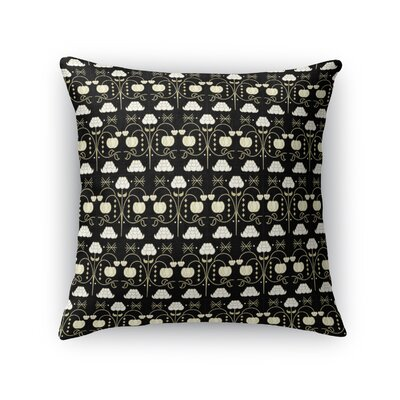 Jankowski Royal Luxury Throw Pillow Color: Black, Size: 18 x 18