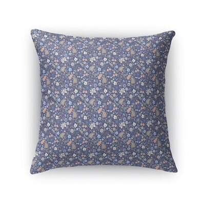 Warnick Spring Fields Throw Pillow Color: Pink/Blue/Brown, Size: 16 x 16