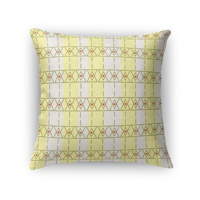 Cuthbertson Throw Pillow Color: Gold/Yellow, Size: 16 x 16
