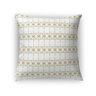 Cuthbertson Throw Pillow Color: Gold/White, Size: 18 x 18
