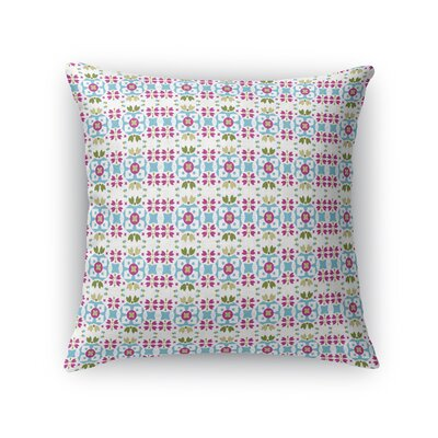 Day-Dykster Bright Flower Field Throw Pillow Size: 16 x 16