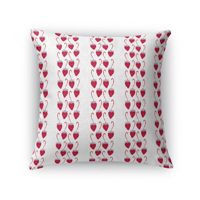 Zerkle Strawberry Fields Throw Pillow Size: 16 x 16