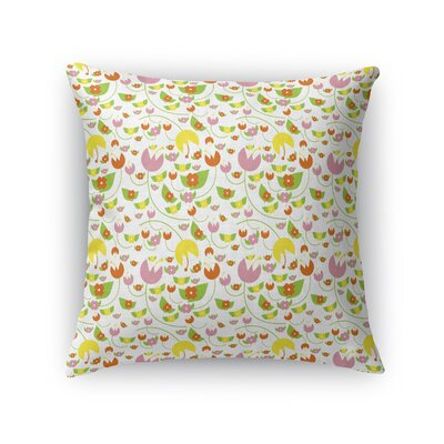 Cutlip Flora Throw Pillow Size: 16 x 16