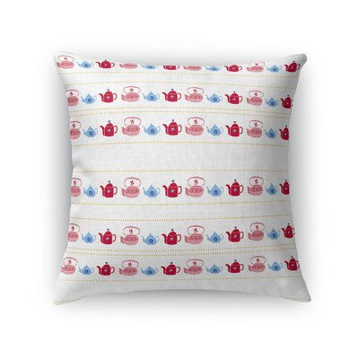 Gulden Kitchen Teapots Throw Pillow Size: 16 x 16