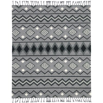 Oneil Handmade Kilim Wool Dove Gray Area Rug Rug Size: Rectangle 5 x 8