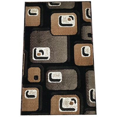 Kaleikini Traditional Black Area Rug Rug Size: Rectangle 5 x 7