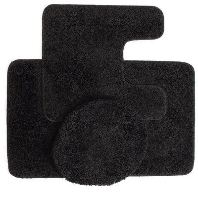 Manchester 3 Piece Bath Rug Set Color: Black