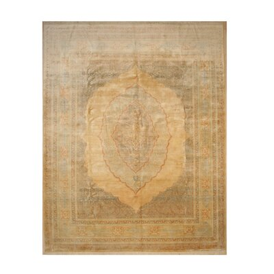 One-of-a-Kind Eleonora Hand-Knotted Wool Beige Area Rug