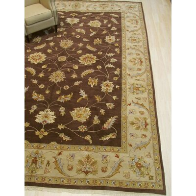 One-of-a-Kind Dozier Hand-Knotted Wool Brown Area Rug