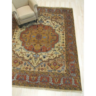 One-of-a-Kind Kipp Hand-Knotted Wool Beige Area Rug
