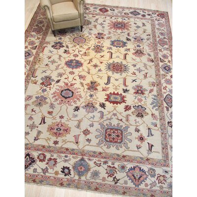 One-of-a-Kind Emet Soumack Hand-Knotted Wool Ivory Area Rug