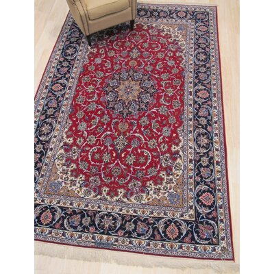 One-of-a-Kind Valley Hand-Knotted Wool Red Area Rug