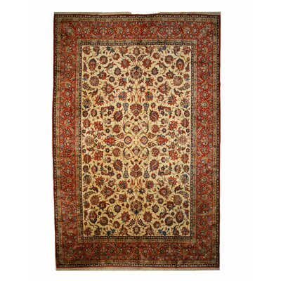 One-of-a-Kind Valley Hand-Knotted Wool Beige Area Rug