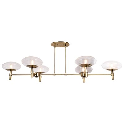 Forontenac 6-Light Kitchen Island Pendant Finish: Brushed Brass