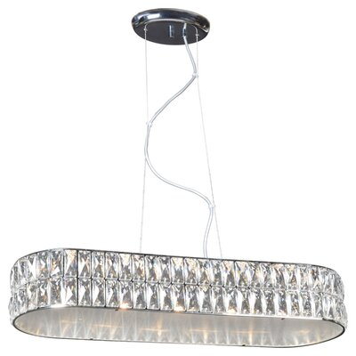 Rolston Oblong LED Crystal Pendant Size: 9 H x 9 W x 26 D
