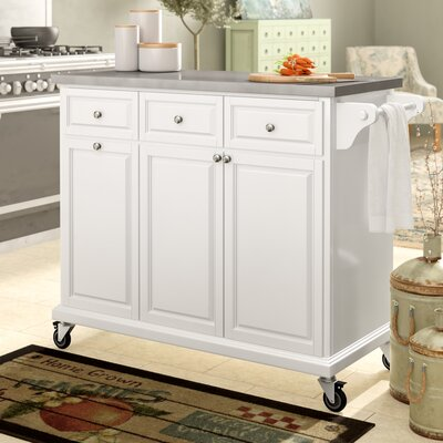 Philippe Kitchen Cart Base Finish: White