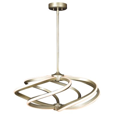 Wirrida LED Geometric Pendant Size: 13 H x 27 W x 27 D, Finish: Inspired Gold