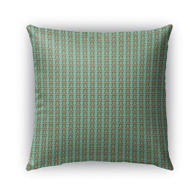 Custis Flowers Pattern Indoor/Outdoor Throw Pillow Size: 18 x 18