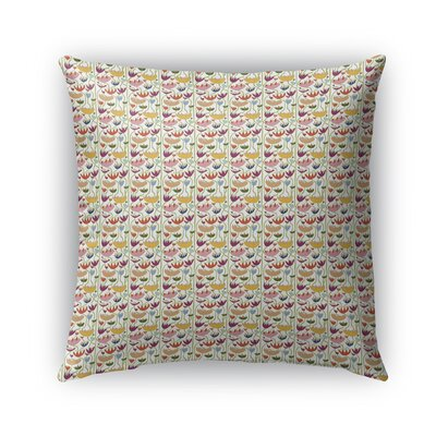 Cutshaw Wild Flowers Pattern Indoor/Outdoor Throw Pillow Size: 18 x 18