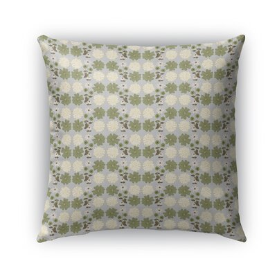 Idafar Vinatge Summer Bloom Pattern Indoor/Outdoor Throw Pillow Size: 16 x 16