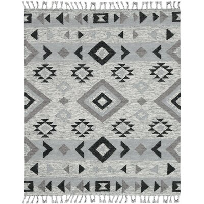 Oneil Handmade Kilim Wool Silver Area Rug Rug Size: Rectangle 5 x 8