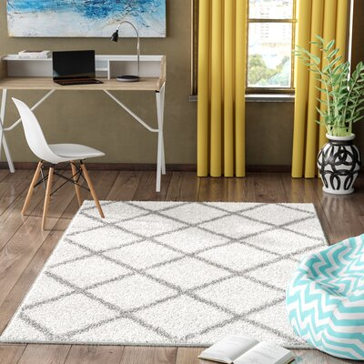 Helsel Ivory Area Rug Rug Size: Rectangle 4 x 6