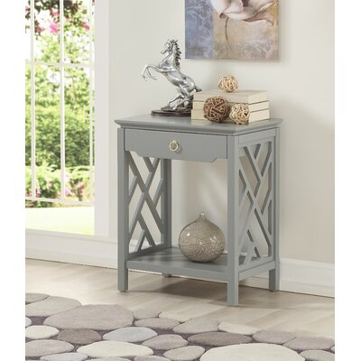 Ingraham 1 Drawer Nightstand Color: Gray