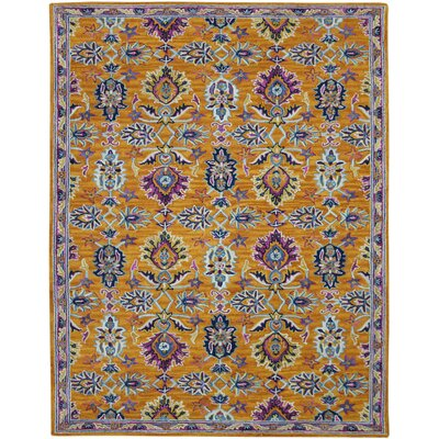Shidler Hand-Tufted Wool Orange Area Rug Rug Size: Rectangle 2 x 3