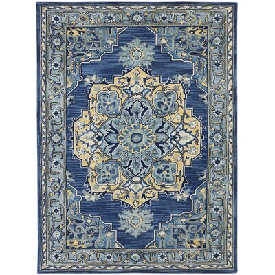 Shidler Hand-Tufted Wool Steel Blue Area Rug Rug Size: Rectangle 2 x 3
