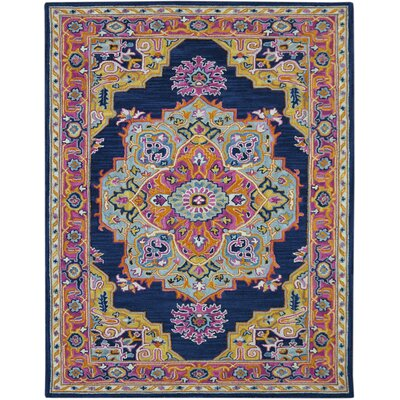 Shidler Hand-Tufted Wool Navy Area Rug Rug Size: Rectangle 2 x 3