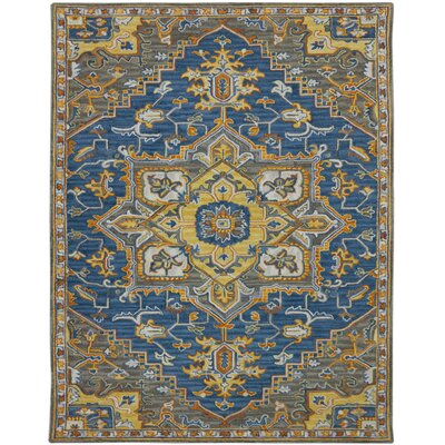 Shidler Hand-Tufted Wool Pastel Blue Area Rug Rug Size: Rectangle 2 x 3