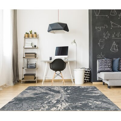 Konkol Hand-Tufted Wool Charcoal Area Rug Rug Size: Rectangle 86 x 116