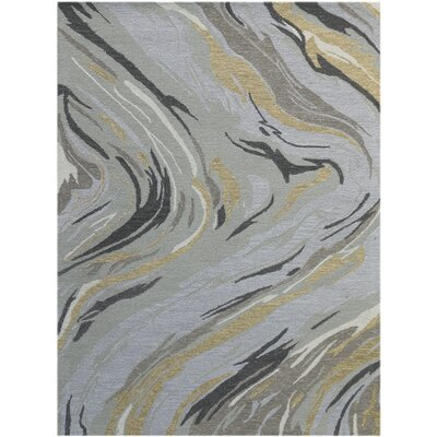 Konkol Hand-Tufted Wool Platinum Area Rug Rug Size: Rectangle 76 x 96