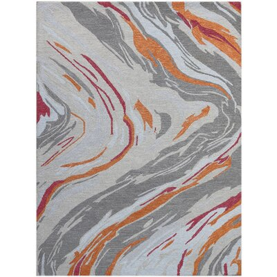 Konkol Hand-Tufted Wool Orange Area Rug Rug Size: Rectangle 86 x 116