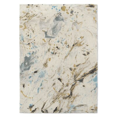 Davila Marbled Blue/Gray Area Rug Rug Size: Rectangle 8 x 10