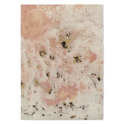 Davin Marbled Pink/Gray Area Rug Rug Size: Rectangle 3 x 5