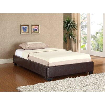 Keasler Upholstered Platform Bed Color: Brown, Size: Twin
