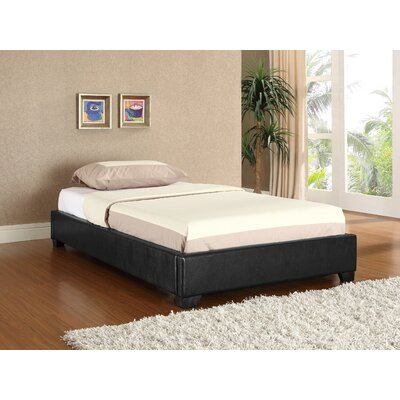 Keasler Upholstered Platform Bed Color: Black, Size: Twin