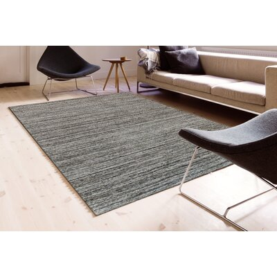 Holliman Hand-Woven Wool Iron Area Rug Rug Size: Rectangle 5 x 8