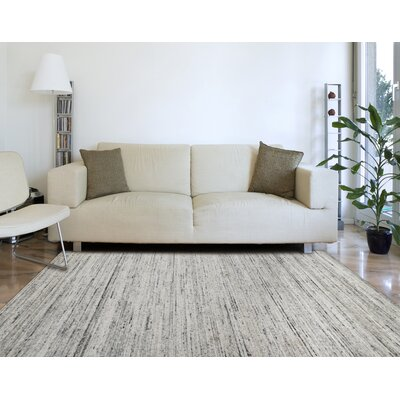 Holliman Hand-Woven Wool Ivory Area Rug Rug Size: Rectangle 10 x 14