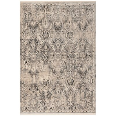 Voigt Vintage Persian Gray/Blue Area Rug Rug Size: Rectangle 51 x 76